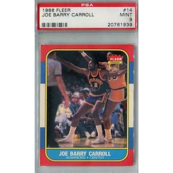 1986/87 Fleer Basketball #14 Joe Barry Carroll PSA 9 (MT) *1939 (Reed Buy)