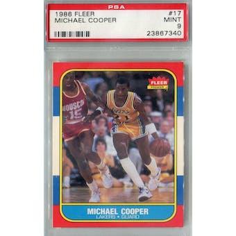 1986/87 Fleer Basketball #17 Michael Cooper PSA 9 (MT) *7340 (Reed Buy)