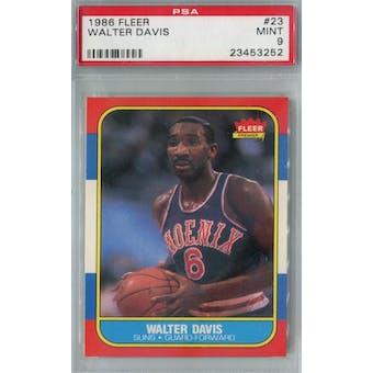 1986/87 Fleer Basketball #23 Walter Davis PSA 9 (MT) *3252 (Reed Buy)