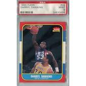 1986/87 Fleer Basketball #24 Darryl Dawkins PSA 9 (MT) *0496 (Reed Buy)