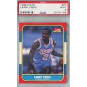 1986/87 Fleer Basketball #25 Larry Drew PSA 9 (MT) *7199 (Reed Buy)