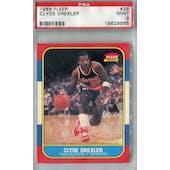 1986/87 Fleer Basketball #26 Clyde Drexler PSA 9 (MT) *8565 (Reed Buy)