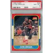 1986/87 Fleer Basketball #26 Clyde Drexler PSA 8 (NM-MT) *7110 (Reed Buy)