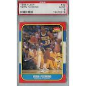 1986/87 Fleer Basketball #33 Vern Fleming PSA 9 (MT) *8319 (Reed Buy)