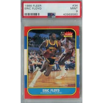 1986/87 Fleer Basketball #34 Eric Floyd PSA 9 (MT) *9560 (Reed Buy)