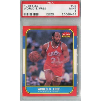 1986/87 Fleer Basketball #35 World B. Free PSA 9 (MT) *8483 (Reed Buy)