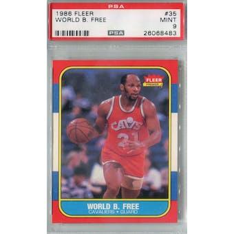 1986/87 Fleer Basketball #35 World B. Free PSA 9 (MT) *8483 (Reed Buy)