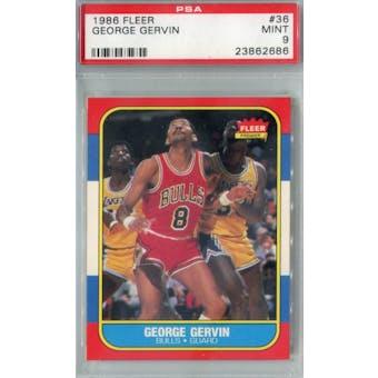 1986/87 Fleer Basketball #36 George Gervin PSA 9 (MT) *2686 (Reed Buy)