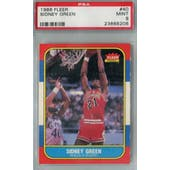1986/87 Fleer Basketball #40 Sidney Green PSA 9 (MT) *8206 (Reed Buy)