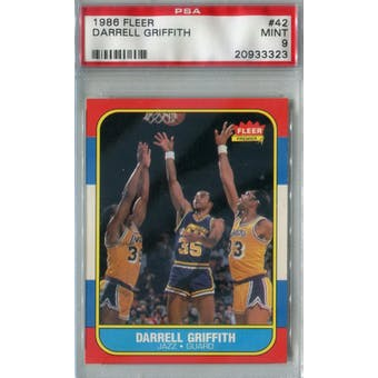 1986/87 Fleer Basketball #42 Darrell Griffith PSA 9 (MT) *3323 (Reed Buy)