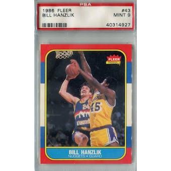 1986/87 Fleer Basketball #43 Bill Hanzlik PSA 9 (MT) *4927 (Reed Buy)