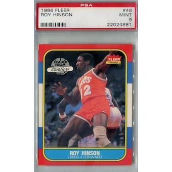 1986/87 Fleer Basketball #46 Roy Hinson PSA 9 (MT) *4681 (Reed Buy)