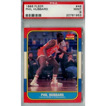 1986/87 Fleer Basketball #48 Phil Hubbard PSA 9 (MT) *1953 (Reed Buy)
