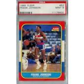 1986/87 Fleer Basketball #52 Frank Johnson PSA 9 (MT) *9930 (Reed Buy)