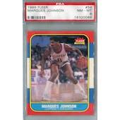 1986/87 Fleer Basketball #54 Marques Johnson PSA 8 (NM-MT) *0088 (Reed Buy)
