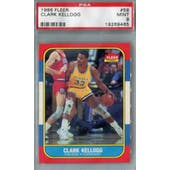 1986/87 Fleer Basketball #58 Clark Kellogg PSA 9 (MT) *9465 (Reed Buy)
