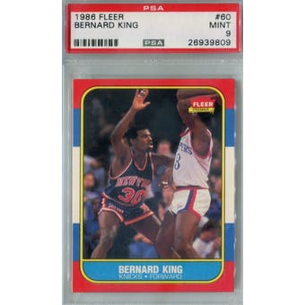 1986/87 Fleer Basketball #60 Bernard King PSA 9 (MT) *9809 (Reed Buy)