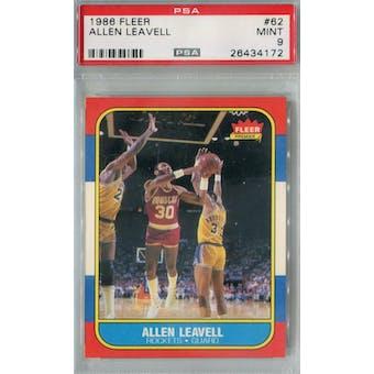 1986/87 Fleer Basketball #62 Allen Leavell PSA 9 (MT) *4172 (Reed Buy)