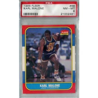 1986/87 Fleer Basketball #68 Karl Malone PSA 8 (NM-MT) *2481 (Reed Buy)