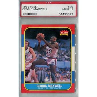 1986/87 Fleer Basketball #70 Cedric Maxwell PSA 9 (MT) *3617 (Reed Buy)