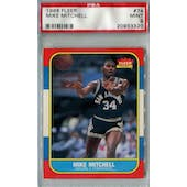 1986/87 Fleer Basketball #74 Mike Mitchell PSA 9 (MT) *3320 (Reed Buy)