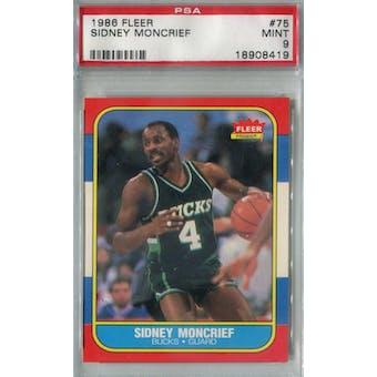1986/87 Fleer Basketball #75 Sidney Moncrief PSA 9 (MT) *8419 (Reed Buy)