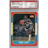 1986/87 Fleer Basketball #76 Johnny Moore PSA 8 (NM-MT) *5146 (Reed Buy)