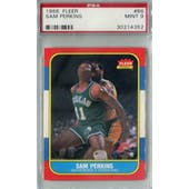 1986/87 Fleer Basketball #86 Sam Perkins PSA 9 (MT) *4352 (Reed Buy)