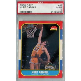 1986/87 Fleer Basketball #89 Kurt Rambis PSA 9 (MT) *5333 (Reed Buy)