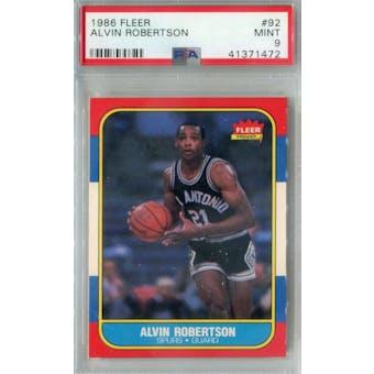 1986/87 Fleer Basketball #92 Alvin Robertson PSA 9 (MT) *1472 (Reed Buy)