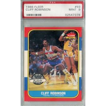 1986/87 Fleer Basketball #93 Cliff Robinson PSA 9 (MT) *7378 (Reed Buy)