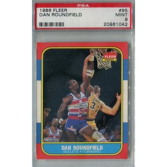 1986/87 Fleer Basketball #95 Dan Roundfield PSA 9 (MT) *1042 (Reed Buy)