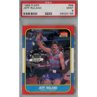 1986/87 Fleer Basketball #96 Jeff Ruland PSA 9 (MT) *0194 (Reed Buy)