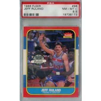1986/87 Fleer Basketball #96 Jeff Ruland PSA 8.5 (NM-MT+) *8173 (Reed Buy)