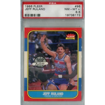 1986/87 Fleer Basketball #96 Jeff Ruland PSA 8.5 (NM-MT+) *8173 (Reed Buy)