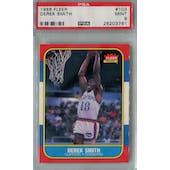 1986/87 Fleer Basketball #103 Derek Smith PSA 9 (MT) *3761 (Reed Buy)