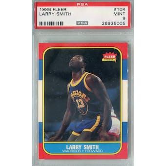 1986/87 Fleer Basketball #104 Larry Smith PSA 9 (MT) *5005 (Reed Buy)