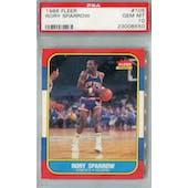 1986/87 Fleer Basketball #105 Rory Sparrow PSA 10 (GM-MT) *8550 (Reed Buy)