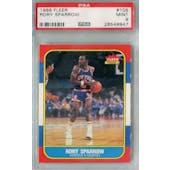 1986/87 Fleer Basketball #105 Rory Sparrow PSA 9 (MT) *9947 (Reed Buy)