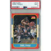 1986/87 Fleer Basketball #107 Terry Teagle PSA 9 (MT) *9557 (Reed Buy)