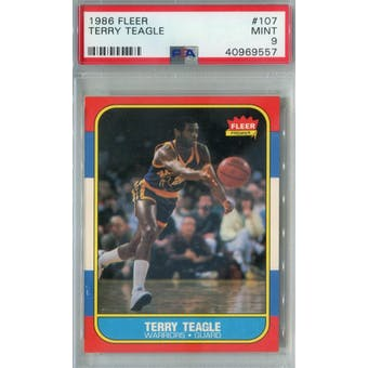 1986/87 Fleer Basketball #107 Terry Teagle PSA 9 (MT) *9557 (Reed Buy)