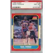 1986/87 Fleer Basketball #109 Isiah Thomas PSA 8 (NM-MT) *1950 (Reed Buy)