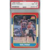 1986/87 Fleer Basketball #109 Isiah Thomas PSA 8 (NM-MT) *3162 (Reed Buy)