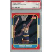 1986/87 Fleer Basketball #113 Wayman Tisdale PSA 9 (MT) *5797 (Reed Buy)