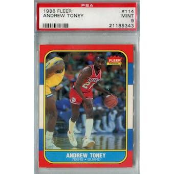 1986/87 Fleer Basketball #114 Andrew Toney PSA 9 (MT) *5343 (Reed Buy)