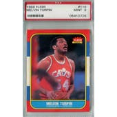 1986/87 Fleer Basketball #116 Melvin Turpin PSA 9 (MT) *0726 (Reed Buy)