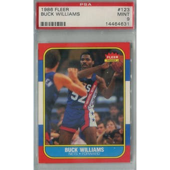 1986/87 Fleer Basketball #123 Buck Williams PSA 9 (MT) *4631 (Reed Buy)