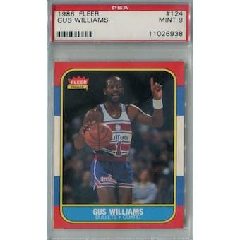 1986/87 Fleer Basketball #124 Gus Williams PSA 9 (MT) *6938 (Reed Buy)