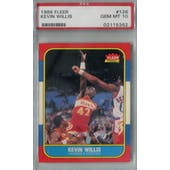 1986/87 Fleer Basketball #126 Kevin Willis PSA 10 (GM-MT) *5362 (Reed Buy)