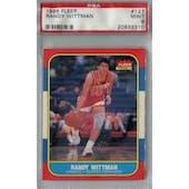 1986/87 Fleer Basketball #127 Randy Wittman PSA 9 (MT) *3310 (Reed Buy)